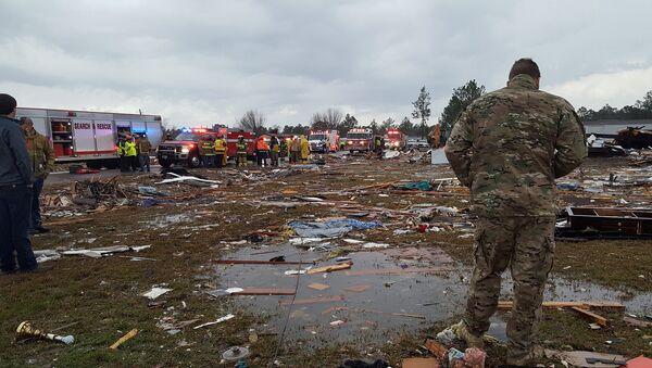 Consecuencias del tornado en Georgia - Sputnik Mundo
