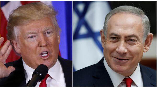 El presidente de EEUU, Donald Trump, y el primer ministro israelí, Benjamín Netanyahu - Sputnik Mundo