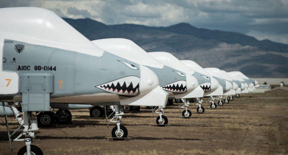 Aviones A-10 de la Fuerza Aérea de EEUU en la base aérea de Davis-Monthan, en Arizona