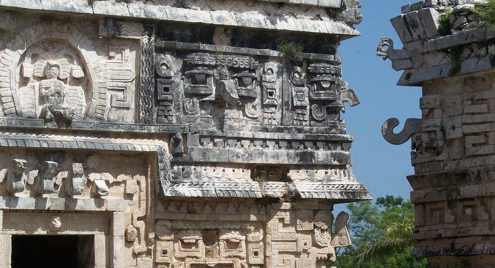 Un templo de los mayas
