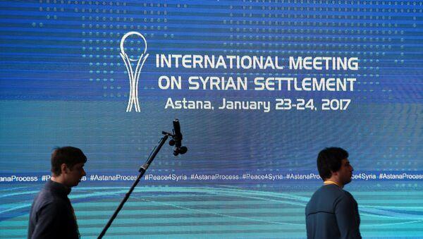 Consultas sirias en Astaná - Sputnik Mundo