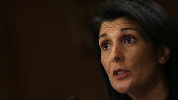 Nikki Haley, embajadora de EEUU ante la ONU (archivo) - Sputnik Mundo