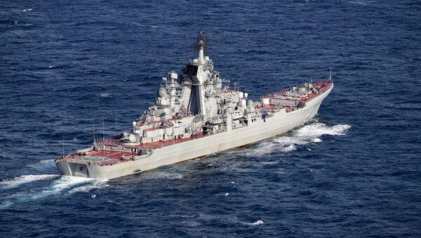 El crucero lanzamisiles de propulsión nuclear Piotr Veliki - Sputnik Mundo