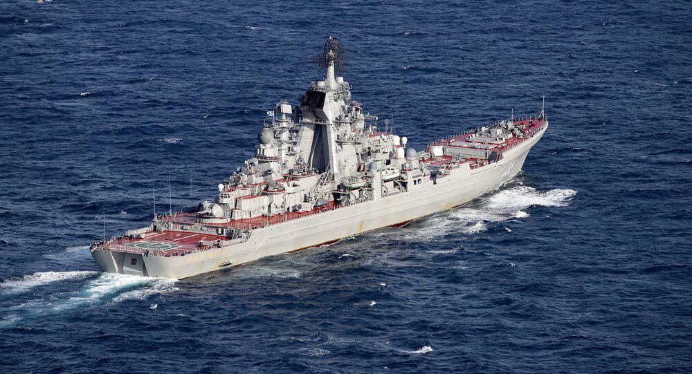 El crucero lanzamisiles de propulsión nuclear Piotr Veliki