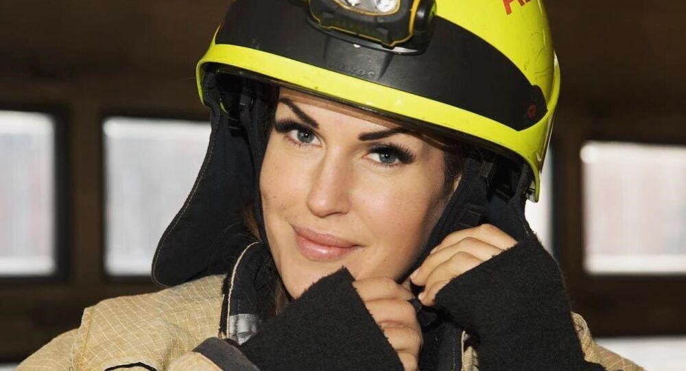 Gunn Narten, la 'bombera más atractiva del mundo', según sus seguidores en Instagram