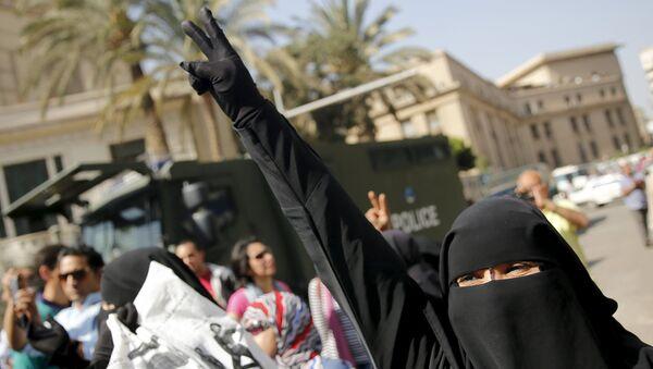 Miembro de los Hermanos Musulmanes en Egipto (archivo) - Sputnik Mundo