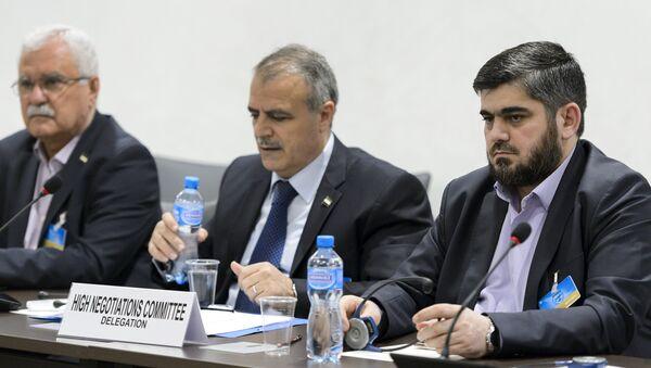 Los representantes de la oposición siria - Sputnik Mundo