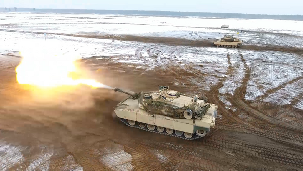 Los tanques M1 Abrams de EEUU, en acción en Polonia - Sputnik Mundo