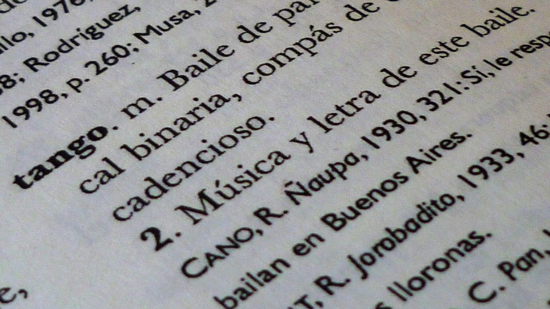 Diccionario de la lengua española - Sputnik Mundo, 1920, 11.04.2021