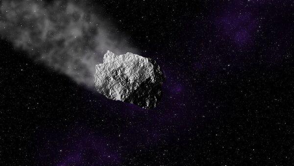 Asteroide (ilustración referencial) - Sputnik Mundo