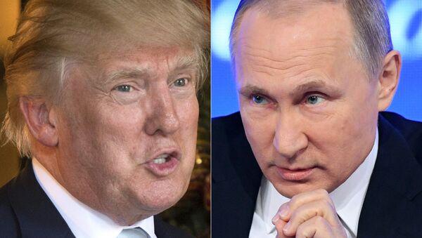 Donald Trump, presidente de EEUU, y Vladímir Putin, presidente de Rusia - Sputnik Mundo