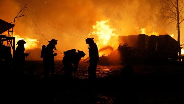 Incendios forestales en Chile (archivo) - Sputnik Mundo