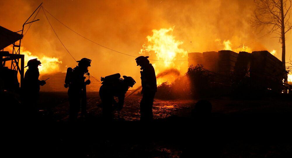 Incendios forestales en Chile (archivo)