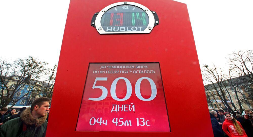 Quedan 500 días hasta el inicio de la Copa Mundial de 2018 en Rusia