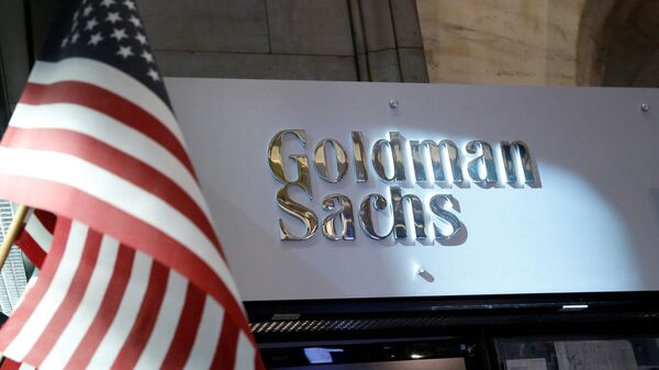 A view of the Goldman Sachs stall on the floor of the New York Stock Exchange - Sputnik Mundo