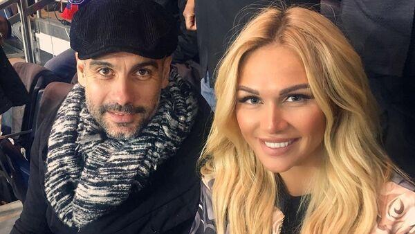 Josep Guardiola y Victoria Lopyreva, 30 de enero de 2017 - Sputnik Mundo