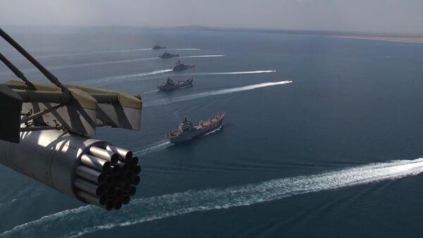 Черноморский флот и Каспийская флотилия приняли участие в стратегическом командно-штабном учении Кавказ-2016 - Sputnik Mundo