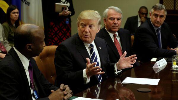 Donald Trump, presidente de EEUU, durante la reunión con los representantes de la industria farmacéutica - Sputnik Mundo