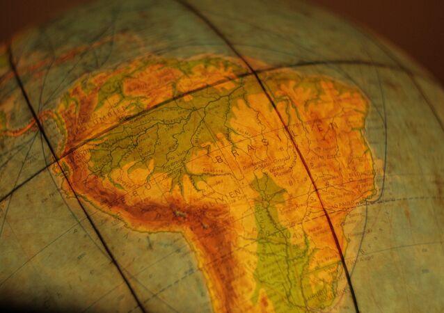 El mapa de América del Sur