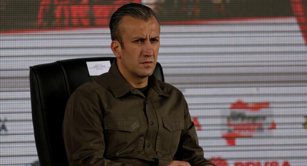 Tareck El Aissami, ministro venezolano para Industria y Producción Nacional (archivo)