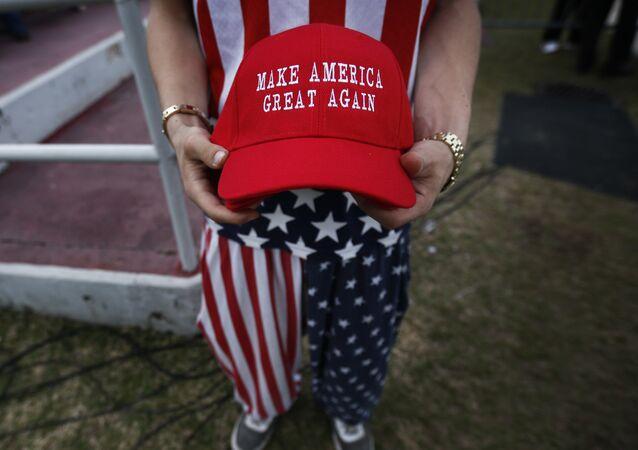 Una gorra con la inscripción 'Make America Great Again'