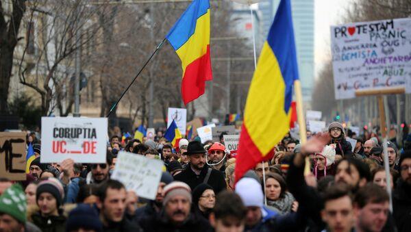Las protestas en Rumanía - Sputnik Mundo
