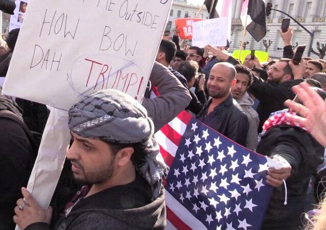 Masivas protestas en EEUU contra el decreto migratorio de Trump