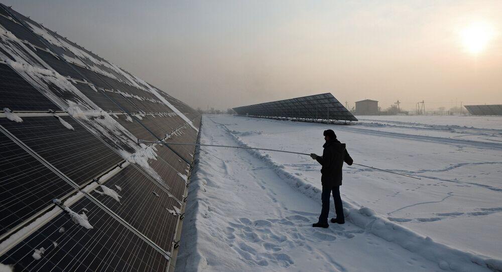 Una central solar de Rusia