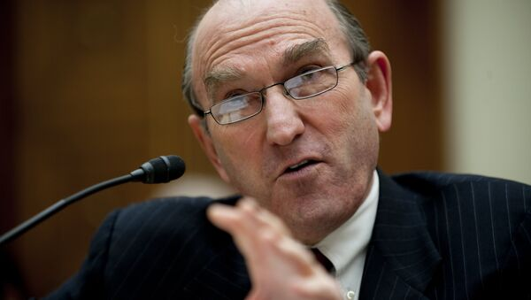 Senior Fellow for Middle Eastern studies at the council on Foreign Relations Elliott Abrams testifies before the House Foreign Affairs Committee on Capitol Hill in Washington - Sputnik Mundo