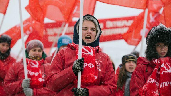 Celebraciones del 99º aniversario de la Revolución bolchevique en Rusia - Sputnik Mundo