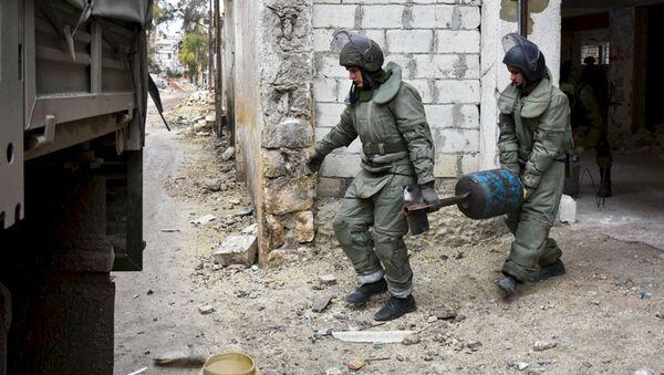 Los zapadores rusos en Palmira - Sputnik Mundo