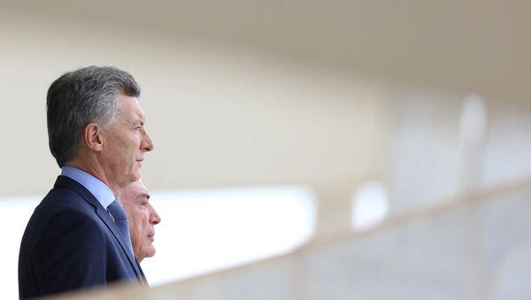 Presidente de Argentina, Mauricio Macri, y presidente de Brasil, Michel Temer - Sputnik Mundo
