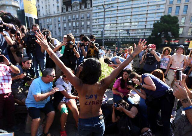 Protesta de mujeres en Buenos Aires