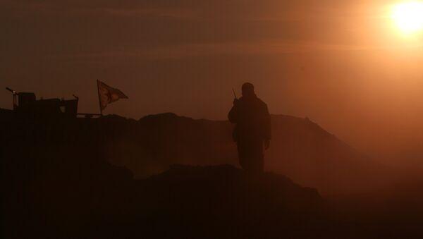 Combatiente de las Fuerzas Democráticas Sirias en la ciudad siria de Al Raqa - Sputnik Mundo
