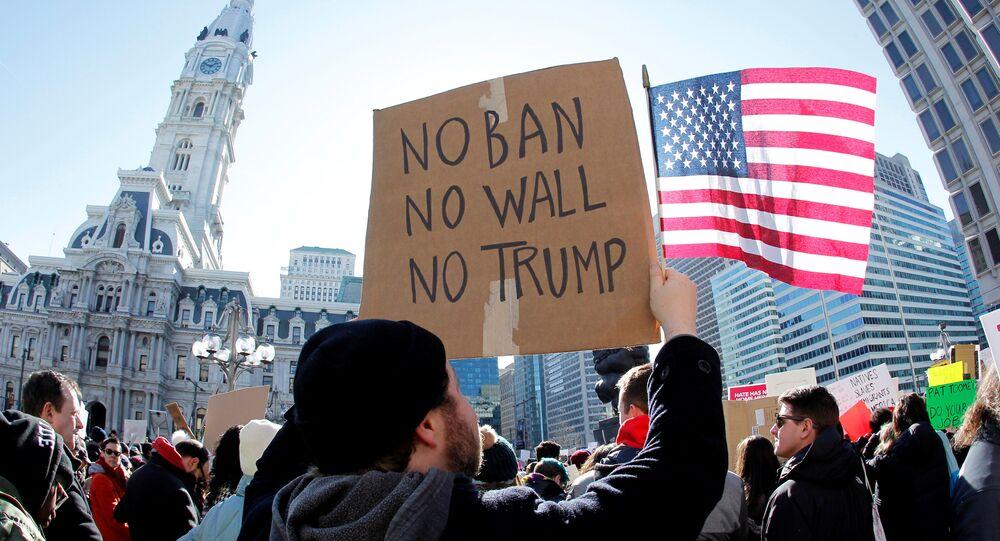 Una protesta contra la política migratoria de Trump (archivo)