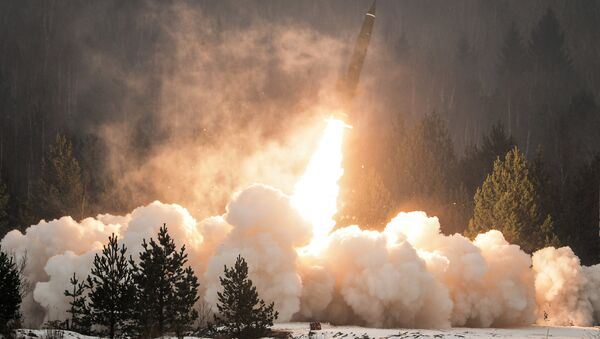 An exhibition missile launch from the Tochka-U tactical complex. (File) - Sputnik Mundo