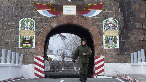 Base militar rusa en Gyumri (archivo) - Sputnik Mundo
