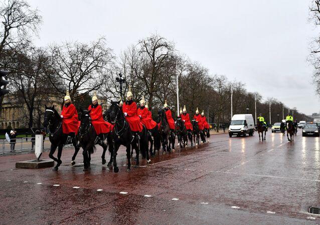 Miembros de la caballería doméstica de Reino Unido
