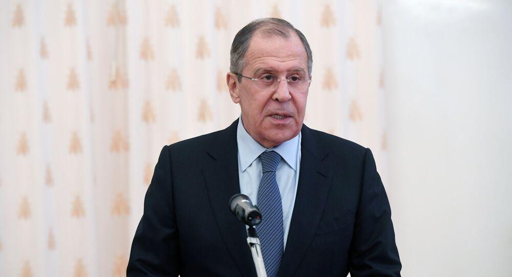 Serguéi Lavrov, ministro de Relaciones Exteriores