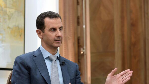 Bashar Asad, presidente de Siria, durante una entrevista a Yahoo News - Sputnik Mundo
