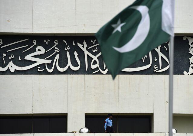 La bandera de Pakistán