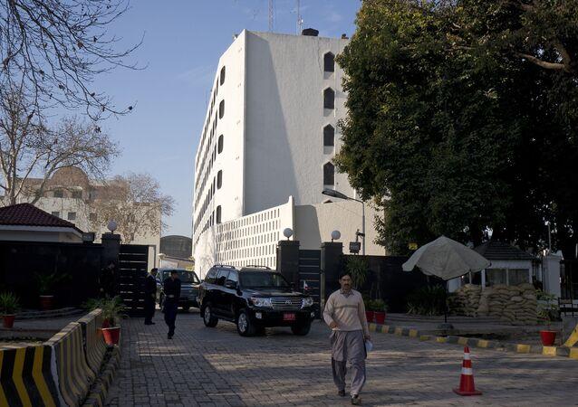 El edificio del Ministerio de Exteriores de Pakistán en Islamabad