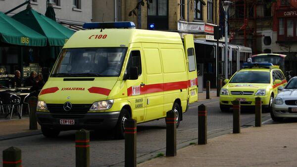 Ambulancia en Bélgica (Archivo) - Sputnik Mundo