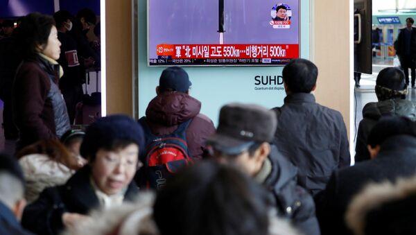 El lanzamiento de misil por Corea del Norte (archivo) - Sputnik Mundo
