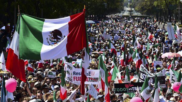 Manifestación en Ciudad de México contra Trump - Sputnik Mundo