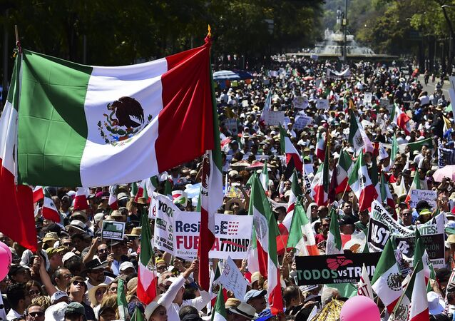 Manifestación en Ciudad de México contra Trump