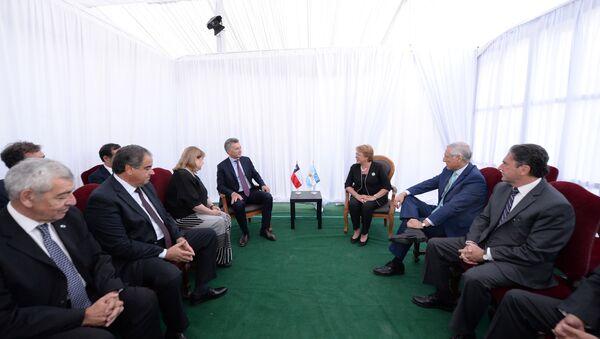 Mauricio Macri, presidente de Argentina, y Michelle Bachelet, presidenta de Chile - Sputnik Mundo