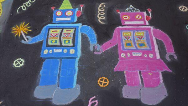 Robots enamorados (imagen referencial) - Sputnik Mundo