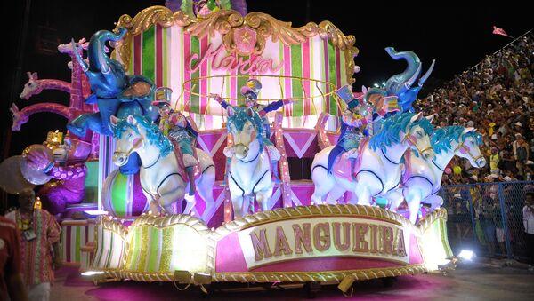La escuela de samba de Mangueira, campeona del Carnaval de Río de Janeiro (archivo) - Sputnik Mundo
