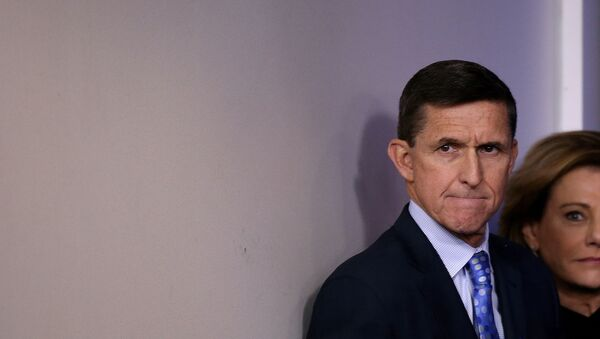 National security adviser General Michael Flynn arrives to deliver a statement during the daily briefing at the White House in Washington U.S., February 1, 2017. Picture taken February 1, 2017 - Sputnik Mundo
